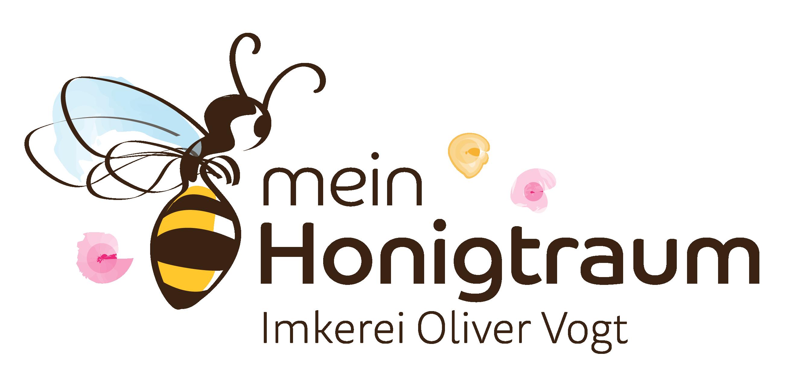 """Logo """"mein Honigtraum"""" Honig vom Imker kaufen bei Oliver Vogt"""